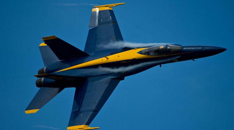Blue Angels jet fighter